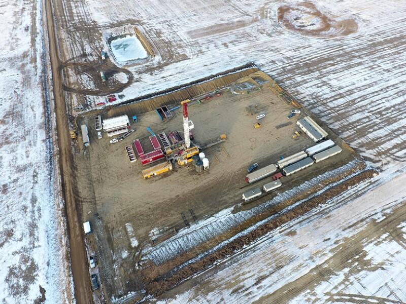 Overhead view of DEEP project in Saskatchewan, Canada