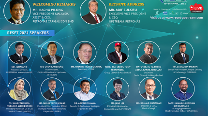 The SPE Kuala Lumpur Section Co-organized an inaugural technology event named Reset-21.