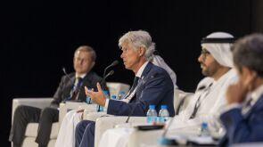 Arnaud Breuillac, the president of exploration and production at TotalEnergies, speaks about the need to create new energy business lines at SPE's Annual Technology Conference and Exhibition on 21 September in Dubai.
