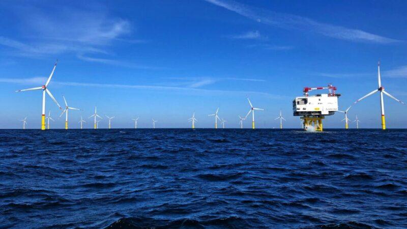 Illustration of Equinor offshore wind farm