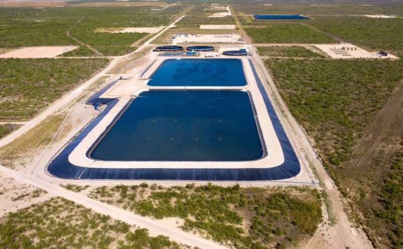 Produced water recycling facility in Permian Basin