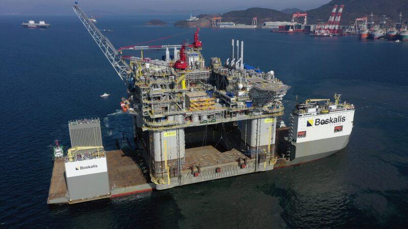 BP's Argos FPU onboard a Boskalis heavy-transport ship