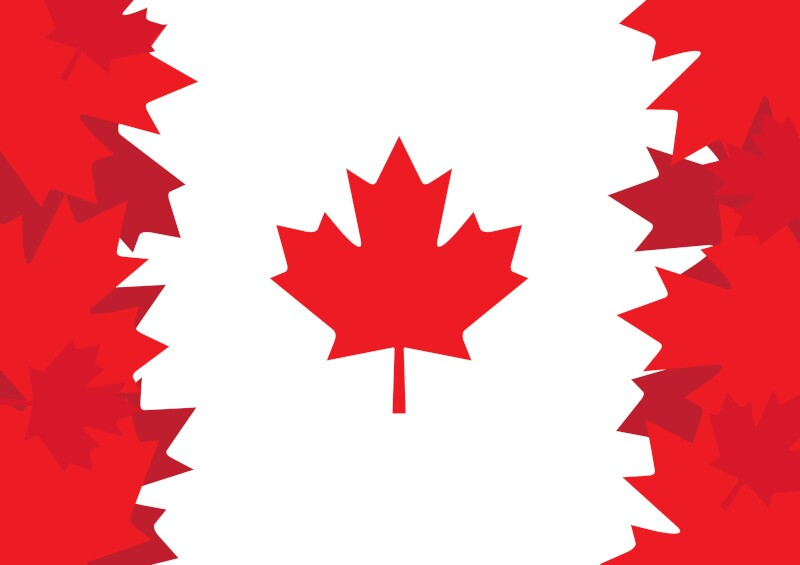 Graphic representing Canadian flag