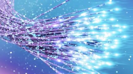Strand of fiber optics cables