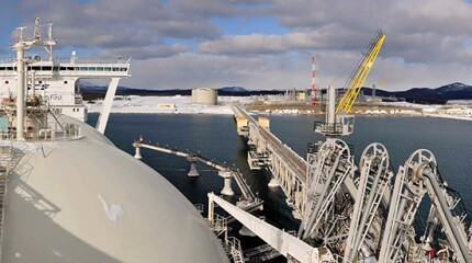 LNG plant in Sakhalin Island, Russia.