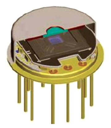 A pyroelectric detector.