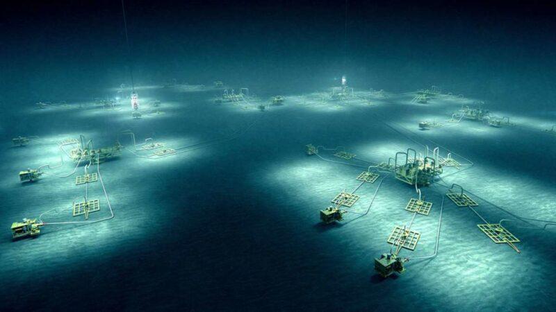 Illustration of subsea facilities