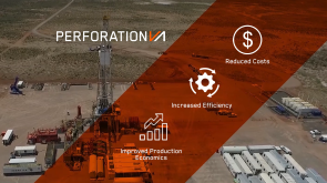 Drill site with colored band listing reduced costs, increased efficiency, and improved production economics