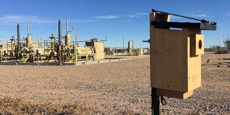 Emission monitoring equipment near a plant location