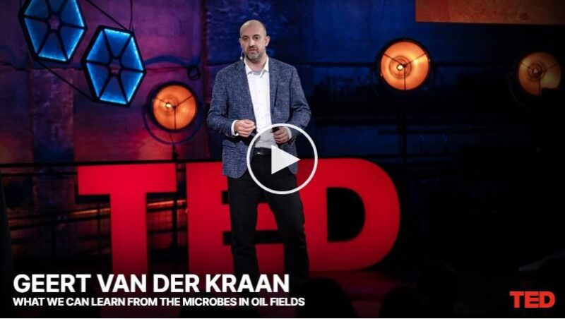 Opening image from What We Can Learn from the Microbes in Oil Fields -- a Ted Talk by Geert Van der Kraan