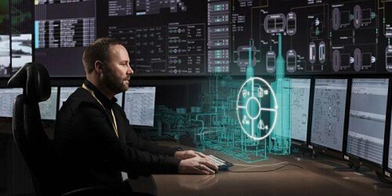 Illustration of digital twin control room