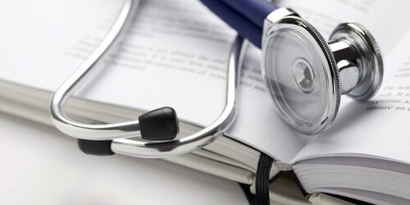 Stethoscope  lying on a book