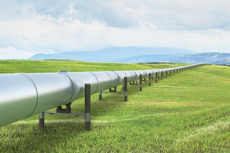 Pipeline in green landscape