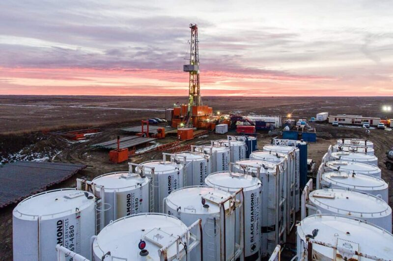 A geothermal drilling site in southern Saskatchewan. Source: Deep Earth Energy Production