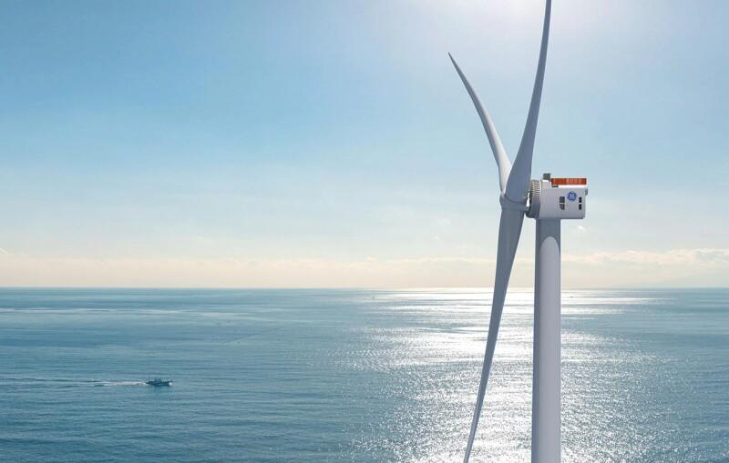 Turbine in  Dogger Bank Wind Farm