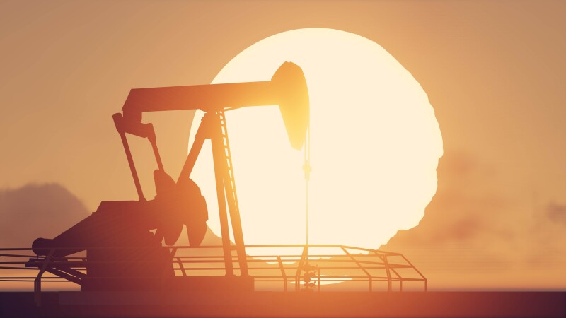 pumpjack and sunset