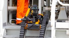 Equinor is going to begin deploying this inspection robot at installations offshore. Source: Total/Ben Mullay.