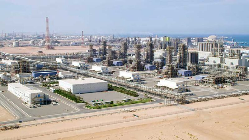 Industrial activity in Abu Dhabi