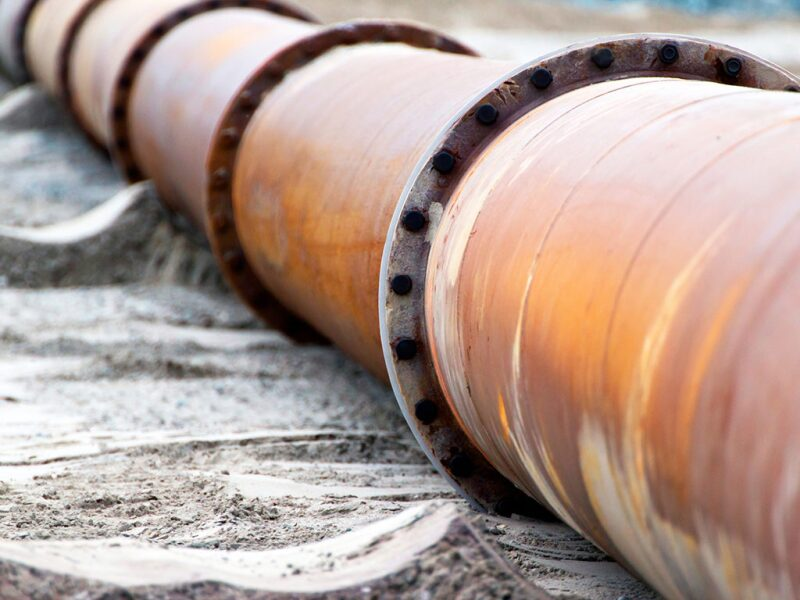 corroded pipeline