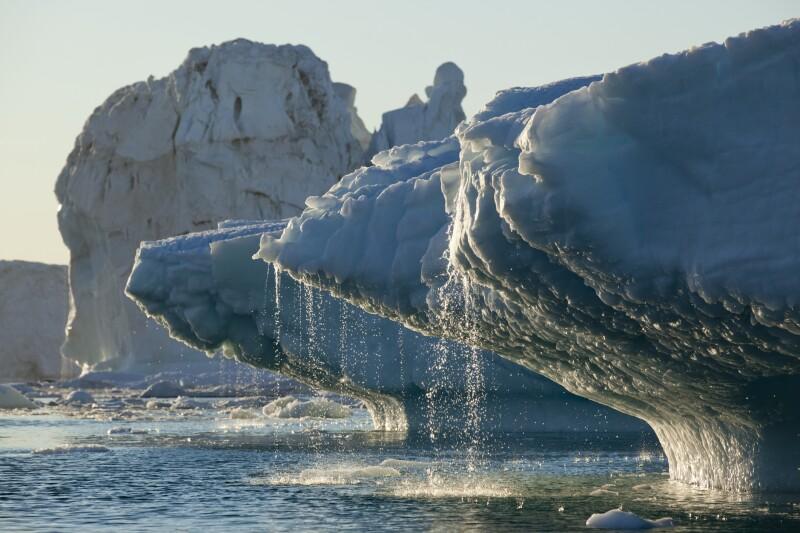 Iceberg melting in Disko Bay in Greenland