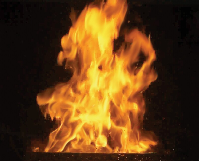 LNG burning flame