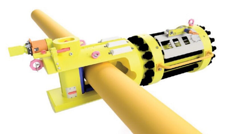 Flexible pipe cutter.