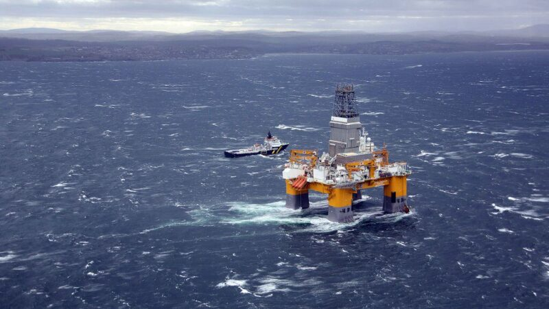 Offshore platform and a supply boat