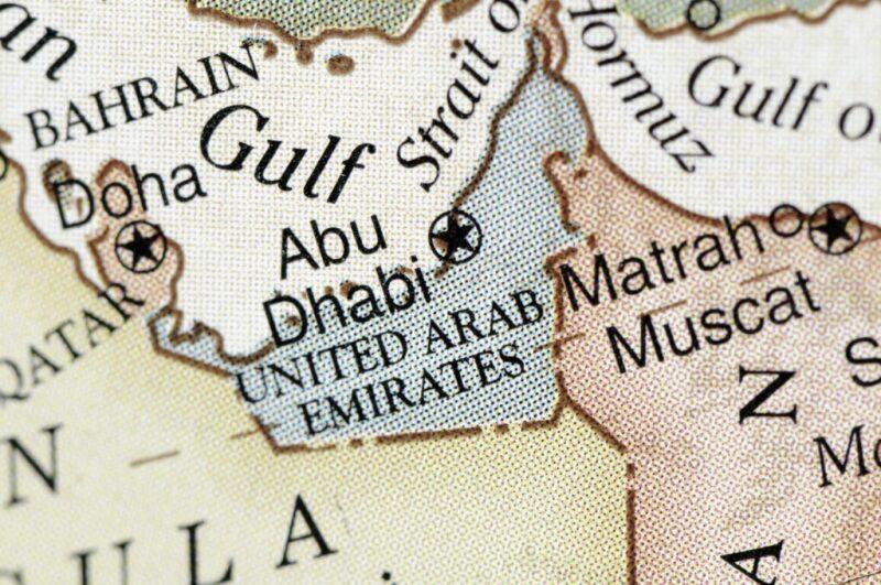 Map of Arabian gulf