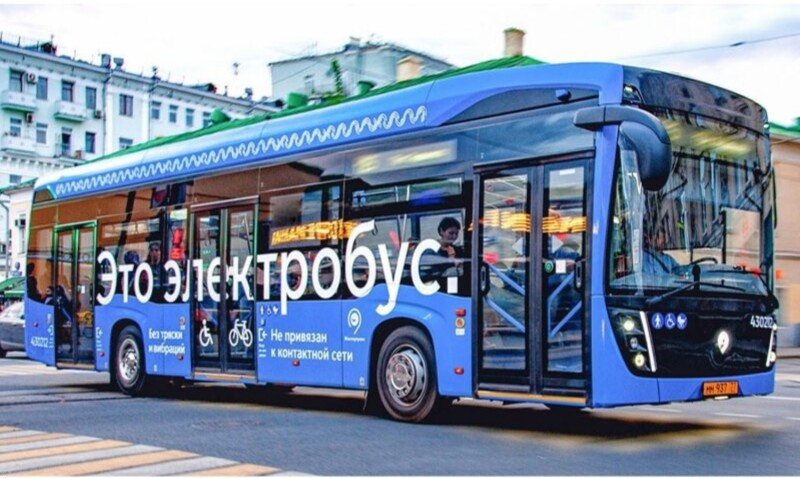Battery powered bus in Moscow