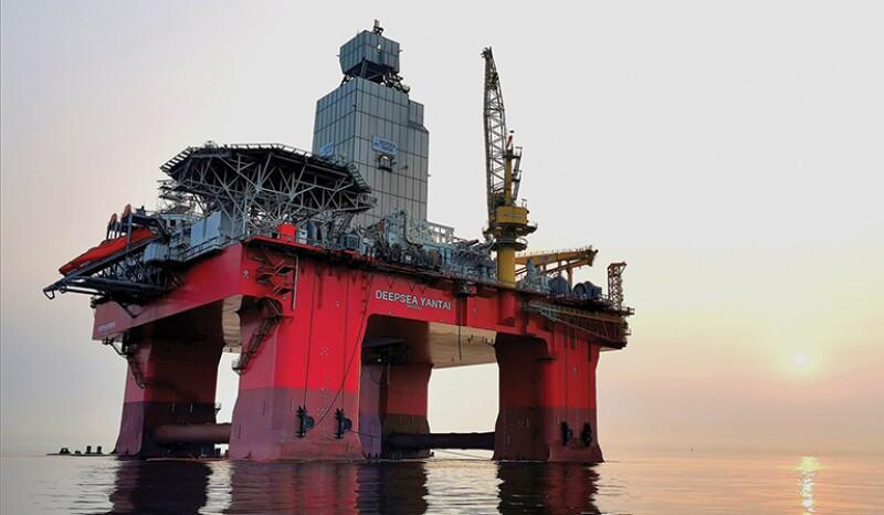 Deepsea Yantai offshore oil platform.