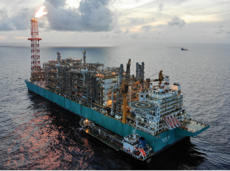 The pride of Petronas, the PFLNG DUA, loaded and sent its first cargo to market this week. It is currently moored on the Rotan gas field in Malaysian waters.