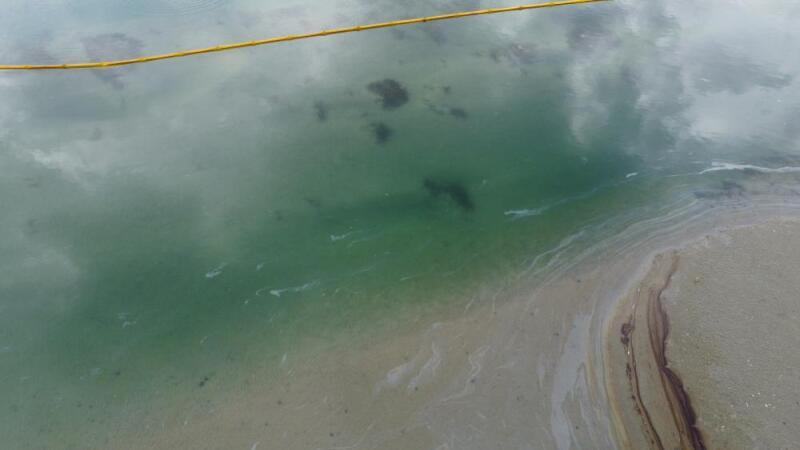 Newport beach oil spill. Amplify Energy sourced.