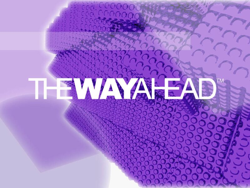 The Way Ahead logo on abstract background