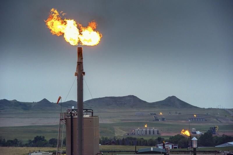 Oil Fields -  Flaring - North Dakota