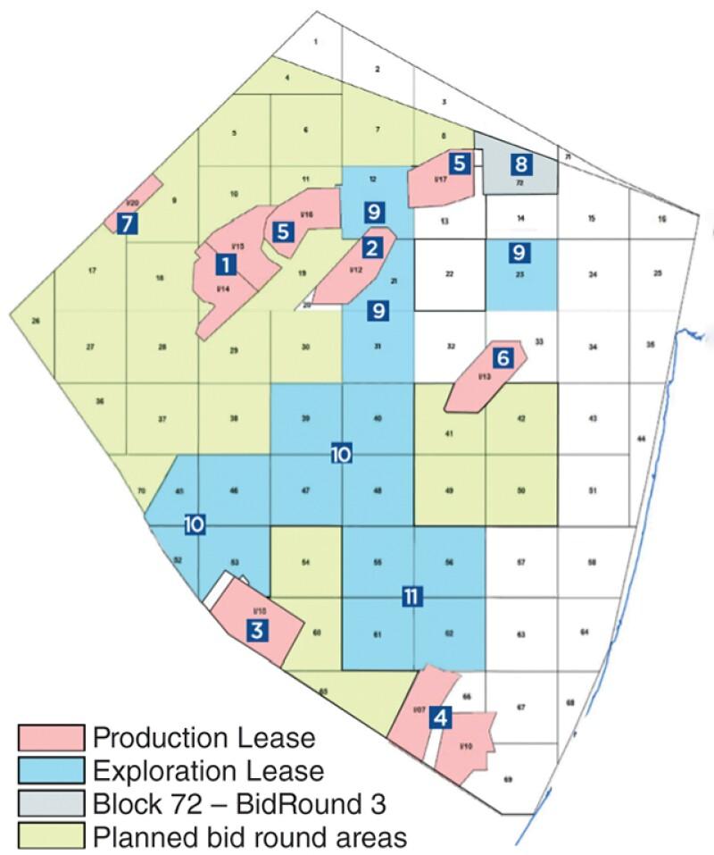 Israel bidding round map
