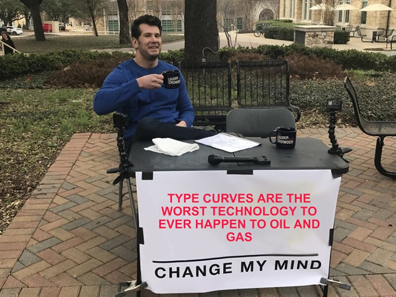 Change My Mind sign at table with man drinking coffee