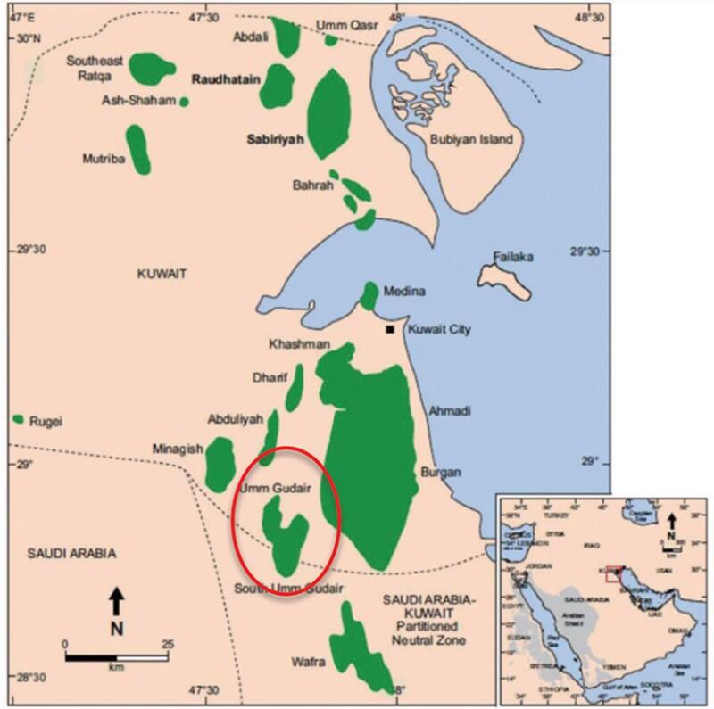 Fig. 1—Umm Gudair field.