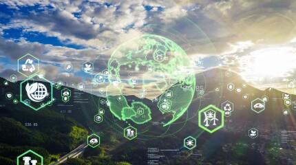 Environmental technology concept.