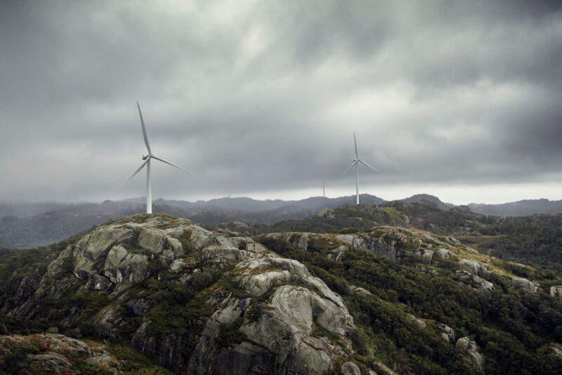 Wind farm in Norway