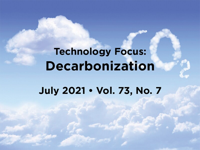 Decarbonization Intro with cloud word CO2 in background