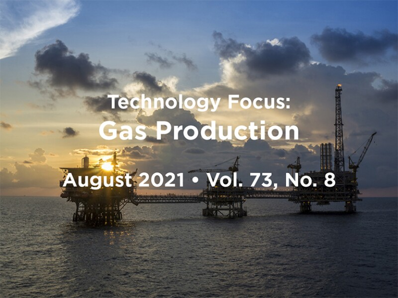 Gas Production intro with offshore platform
