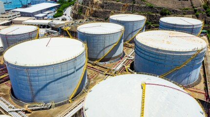 Oil Storage tanks in Hong Kong