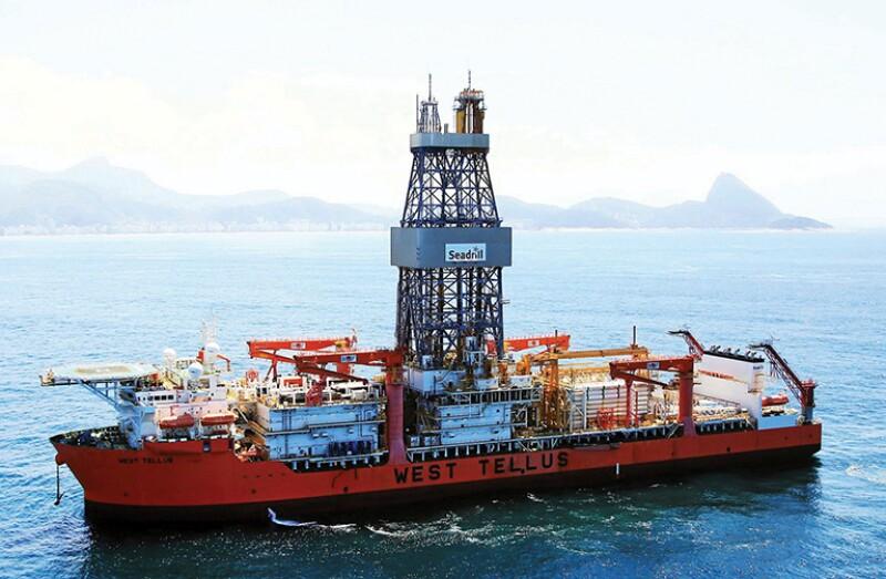 Seadrill's West Tellus drillship.