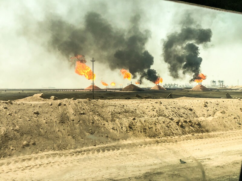 Flare for flaring associated gas