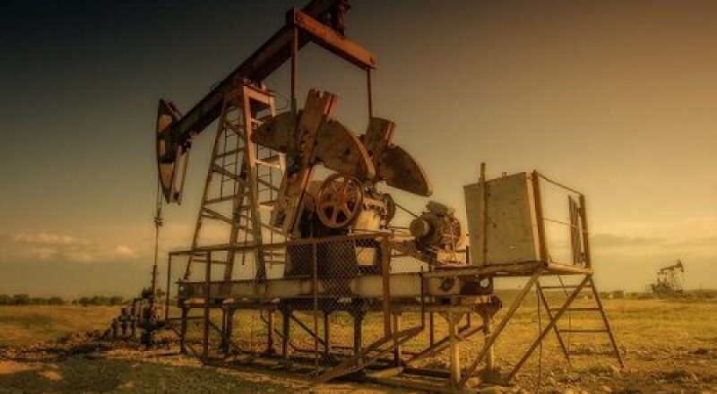 Abandoned oil and gas pump jack