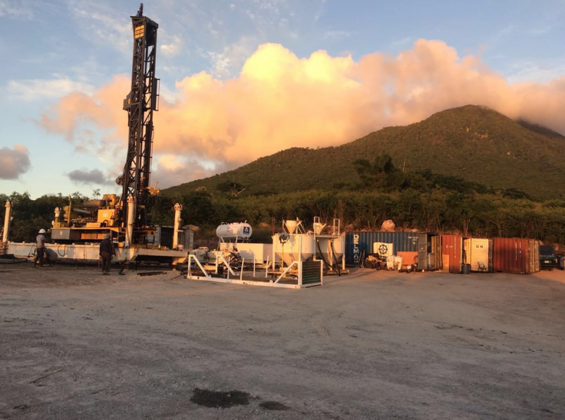 Geothermal drilling test site