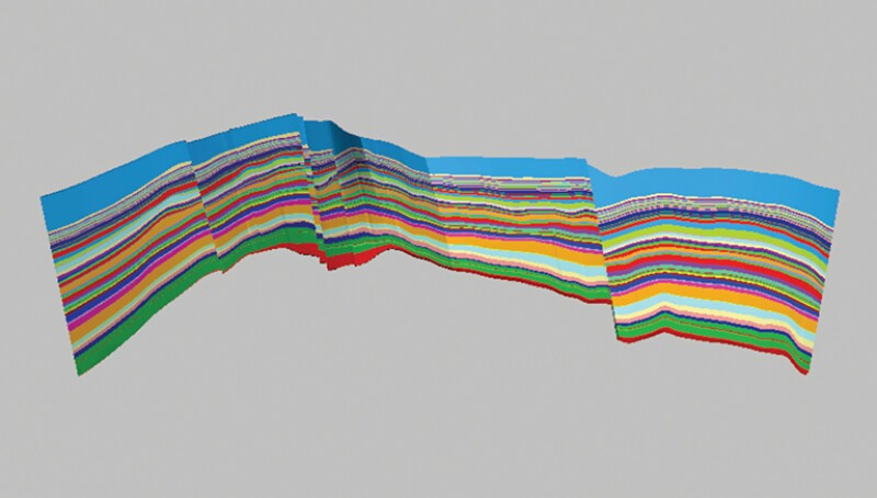 "Depiction of reservoir zones of Field ""A""."