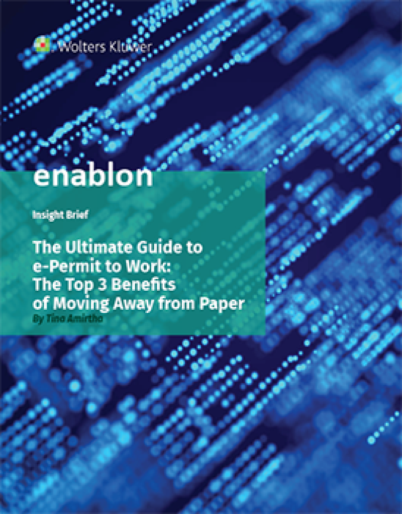 Report cover for The Ultimate Guide to e-Permit to Work: The Top 3 Benefits of Moving Away from Paper