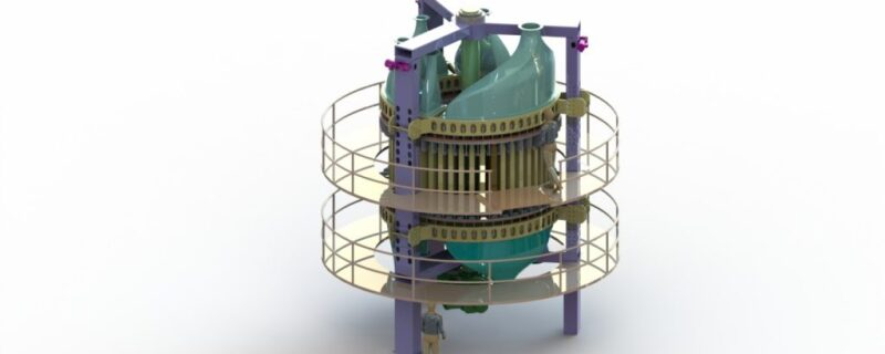 Drawing of carbon capture equipment