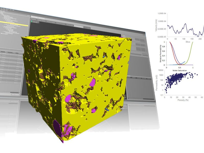 3D computer view giving insight to characterization of complex porous media